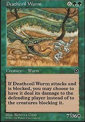Deathcoil Wurm on Channel Fireball