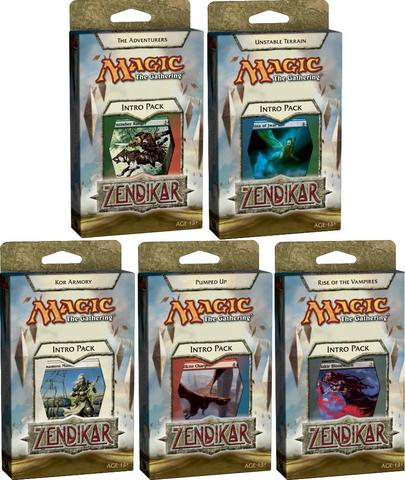 All 5 Zendikar Intro Packs