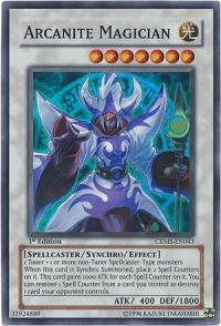 Arcanite Magician - CRMS-EN043 - Super Rare - 1st Edition