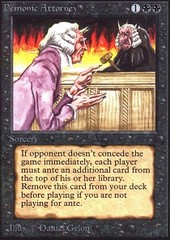 Demonic Attorney on Channel Fireball