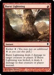 Burst Lightning on Channel Fireball