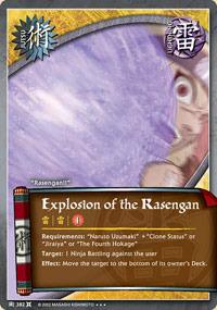 Explosion of the Rasengan - J-382 - Super Rare - 1st Edition - Foil