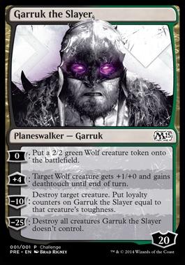 Garruk the Slayer (Oversized Magic 2015 Prerelease)
