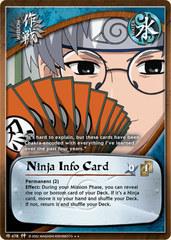 Ninja Info Card - M-478 - Rare - 1st Edition