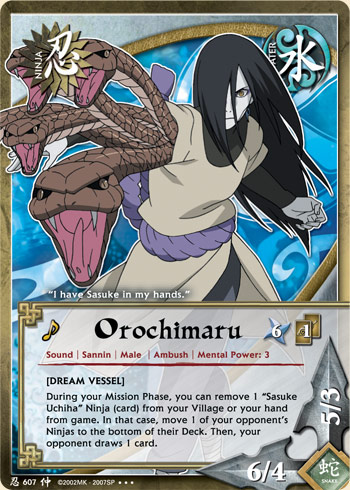 Orochimaru - N-607 - Super Rare - 1st Edition - Foil