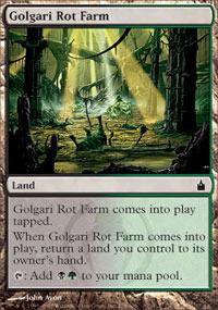 English Commander 2018 MTG Magic 4x Golgari Rot Farm NM-Mint
