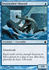Grayscaled Gharial on Channel Fireball
