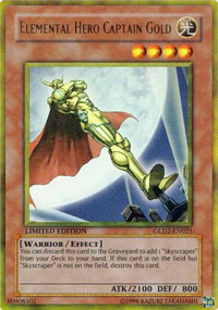 Elemental Hero Captain Gold - GLD2-EN025 - Gold Rare - Limited Edition
