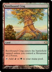 Rootbound Crag - Foil on Channel Fireball