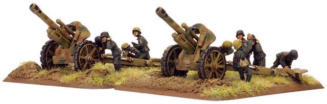 10.5cm leFH18 howitzer (x2) (Late)