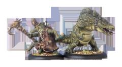 (75019) Minions: Wrong Eye and Snapjaw Minion Gatorman Character Solo and Mercenary Minion Gatorman Character Heavy Warbeast