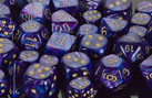 Lustrous Purple / Gold Polyhedral7 Dice Set - CHX27497