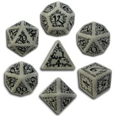 Grey & Black Elven 7 Dice set