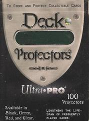 Ultra-Pro Solid Standard Size Deck Protector Sleeves Green in Deck Box (100 ct)