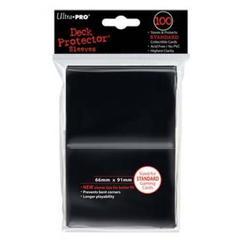 Ultra Pro Standard Size Sleeves - Black - 100ct