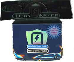 Max Protection Horizontal Metallic Blue Lightning Bolt Deck Box