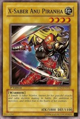 X-Saber Anu Piranha - 5DS2-EN004 - Common - 1st Edition