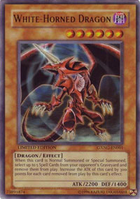 White-Horned Dragon - GXNG-EN001 - Ultra Rare - Promo Edition