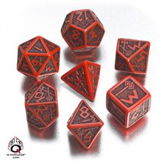 Red-Black Dwarven Dice Set