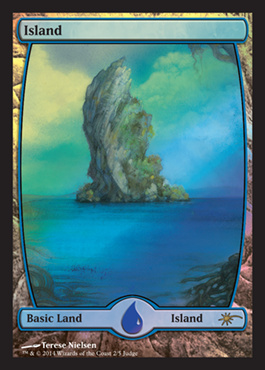 Island - Full Art - Foil DCI Judge Promo