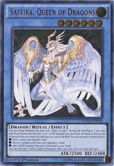Saffira, Queen of Dragons - DUEA-EN050 - Ultimate Rare - 1st Edition on Channel Fireball