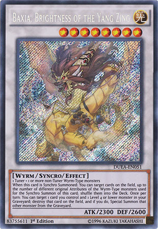 Baxia, Brightness of the Yang Zing - DUEA-EN051 - Secret Rare - 1st Edition