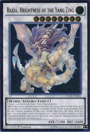 Baxia, Brightness of the Yang Zing - DUEA-EN051 - Ultimate Rare - 1st Edition