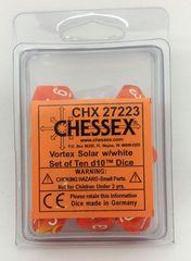 10 Vortex Soler w/white D10 Dice - CHX27223