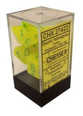 Vortex Electric Yellow/green  Polyhedral 7 Dice Set - CHX27422