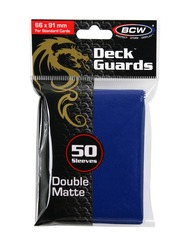 Deck Guards BCW Blue Double-Matte Standard-Sized Sleeves (50 ct)