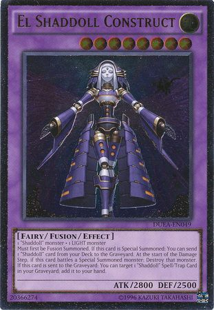 El Shaddoll Construct - DUEA-EN049 - Ultimate Rare - Unlimited Edition