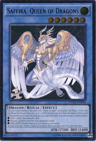 Saffira, Queen of Dragons - DUEA-EN050 - Ultimate Rare - Unlimited Edition