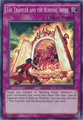The Traveler and the Burning Abyss - DUEA-EN086 - Super Rare - Unlimited Edition