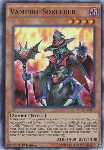 Vampire Sorcerer - MP14-EN151 - Ultra Rare - 1st Edition