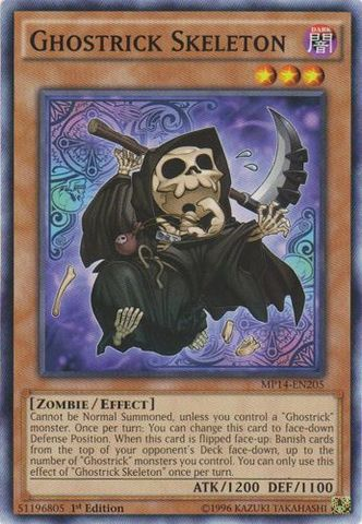 Ghostrick Skeleton - MP14-EN205 - Common - 1st Edition