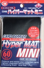 KMC Mini Sized Hyper Matte Black Sleeves 60 CT