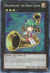 Melomelody the Brass Djinn - YS12-EN042 - Super Rare - Unlimited Edition