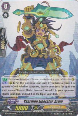 Yearning Liberator, Arum - BT15/028EN - R