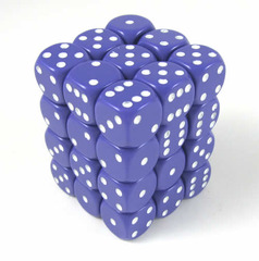 36 Opaque Purple w/White Spots D6 - CHX25807