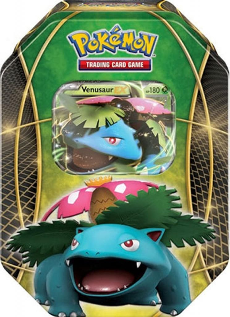 Pokemon EX Power Trio Tin Venusaur -- 2016 VERSION