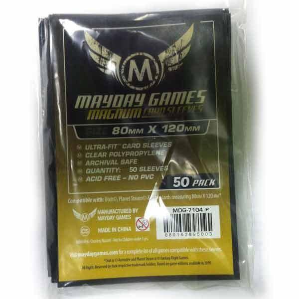 50 ct Magnum Gold Premium Dixit Card Sleeves - Black