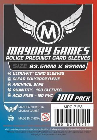 100 ct Custom Police Precinct Sized Card Sleeves
