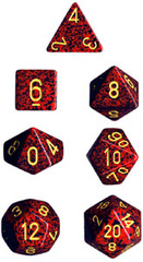 7 die Polyhedral Mercury Speckled Dice Block - CHX25323