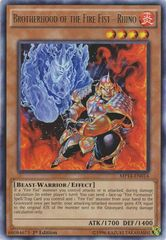 Brotherhood of the Fire Fist - Rhino - MP14-EN014 - Rare - Unlimited