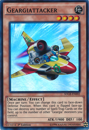 Geargiattacker - SDGR-EN002 - Super Rare - 1st Edition