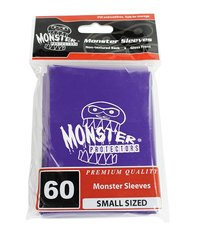 60ct Monster Logo Purple Small Deck Protectors