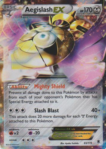 Aegislash-EX - 65/119 - Rare Holo EX
