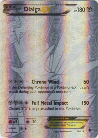 Dialga-EX - 122/119 - Secret Rare Full Art
