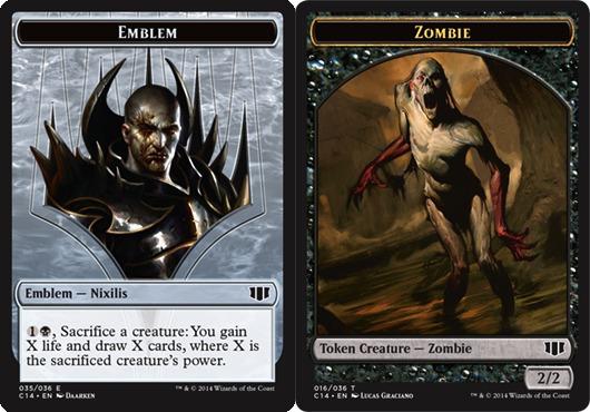 Emblem Nixilis Zombie Token Black Card Games Cg