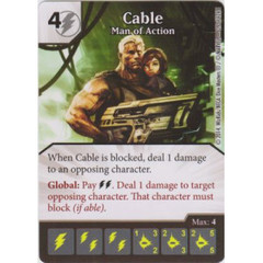Cable - Man of Action (Die  & Card Combo)